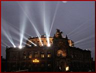 Semperoper Lichtinstallation. Bild: UVS